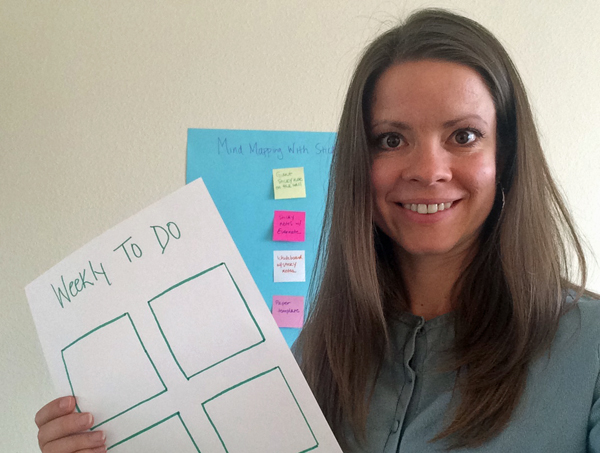 mindmapping with sticky notes